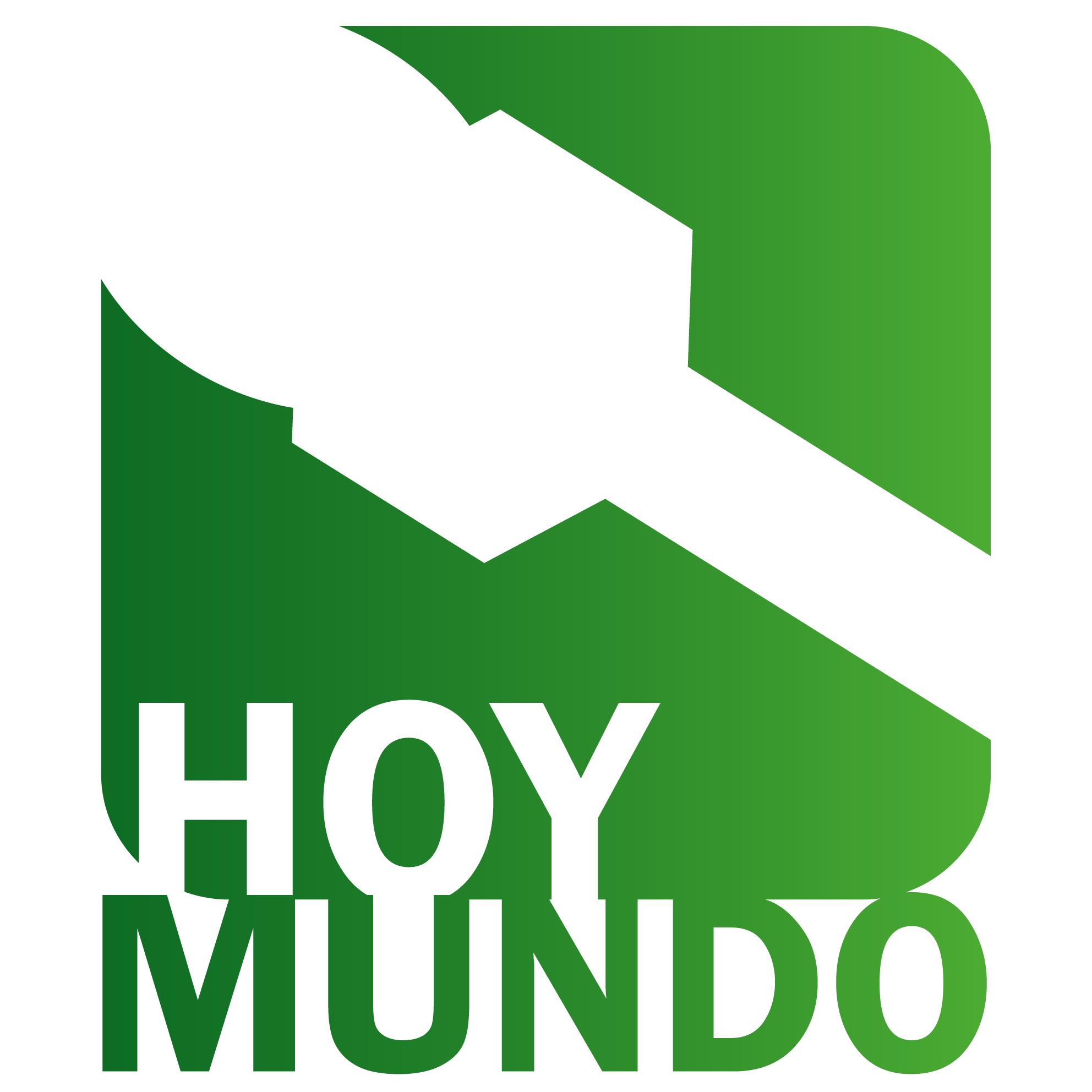 Logo Hoy Mundo verde blanco